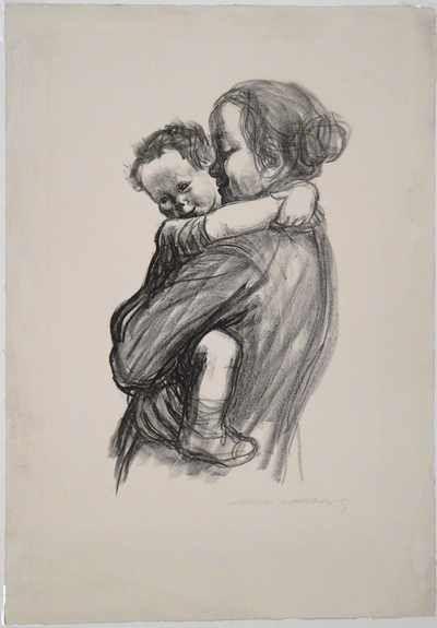 Käthe Kollwitz, Mother and Little Boy