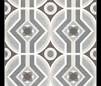 1970S ORIGINAL GREY Brown Mid Century Modern Danish Geometric Wallpaper 1970s in…