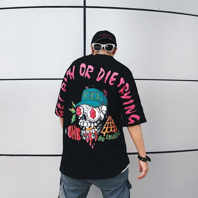 The Perfect Addition To Your Summer Wardrobe Get Rich Or Die Trying The Only Sentence On Everyones Mi Mens Street Style Minimalist Fashion Men Shirt Style