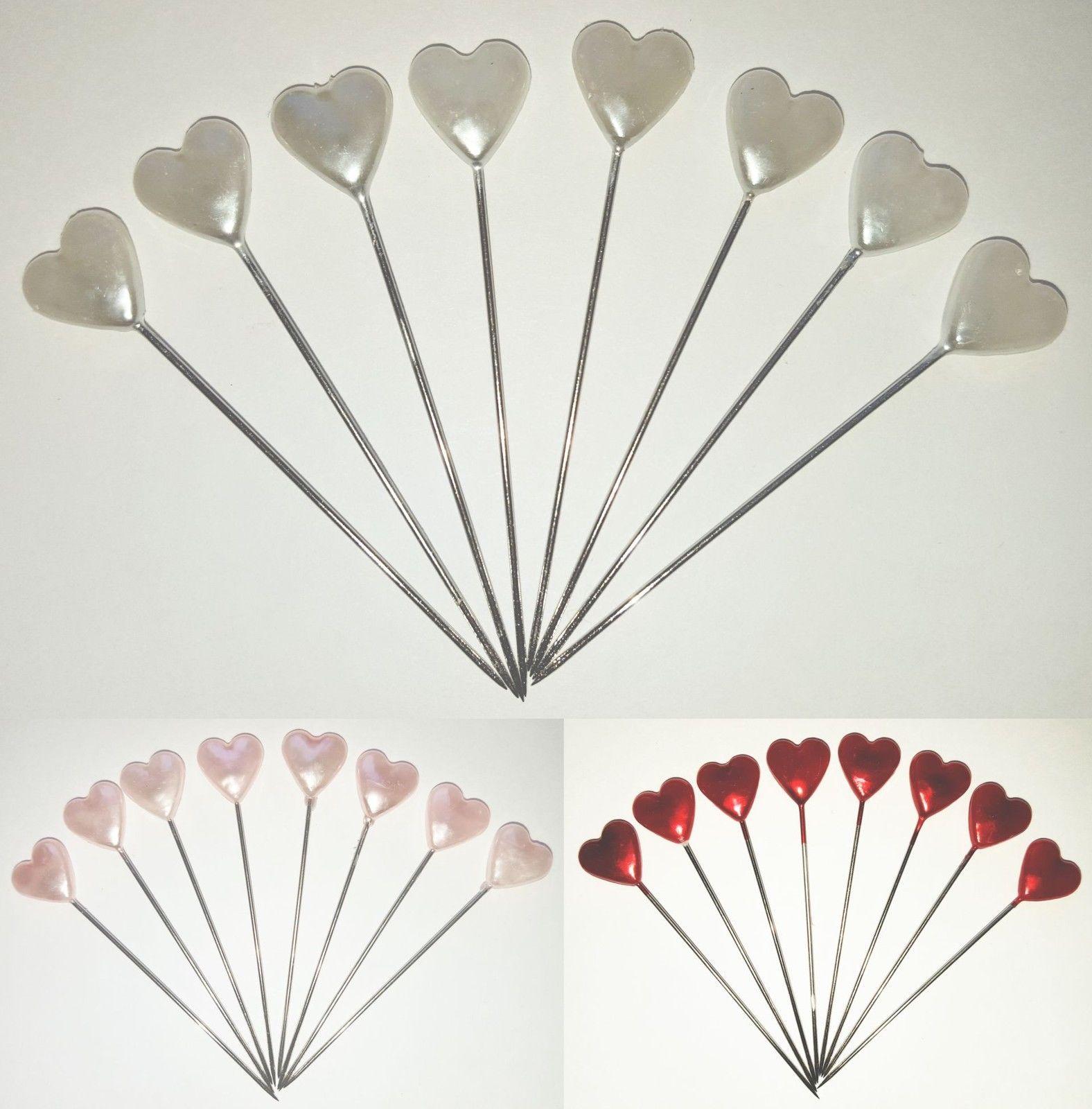 Dressmaking Florist Heart Pins Wedding Bouquet Buttonholes Craft ...