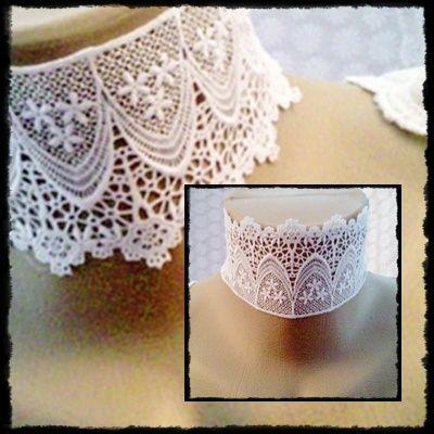 Halsbänder & Choker - *White Lace* Halsband 1-447 - ein Designerstück von ikimmis-passion bei DaWanda