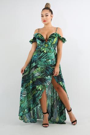 67d95381a07 Swirled Tropical Maxi Dress | June 2017 in 2019 | Dresses, Dress ...