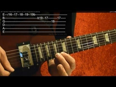 Beatles Let It Be Solo 2 Of 2 How To Play Free Online Guitar Lessons With Tabs Youtube Basic Guitar Lessons Online Guitar Lessons Guitar