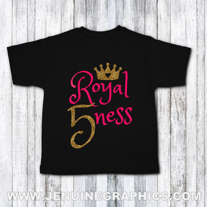 Fifth birthday shirt royal fiveness fifth birthday