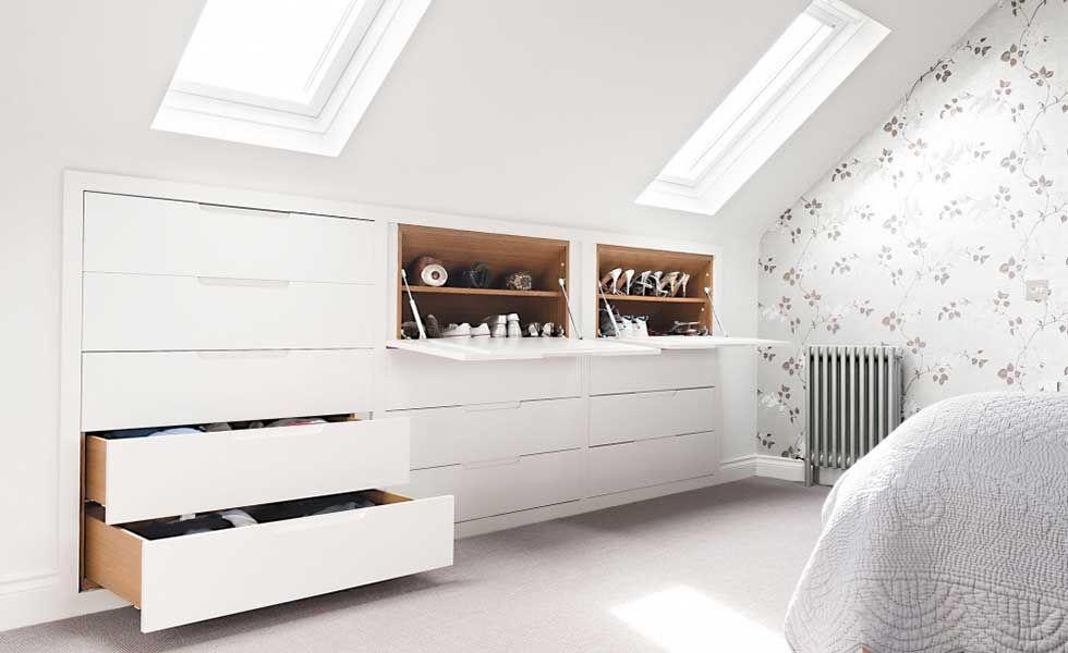 Bedroom Storage Ideas Attic Bedroom Storage Loft Spaces Loft Storage