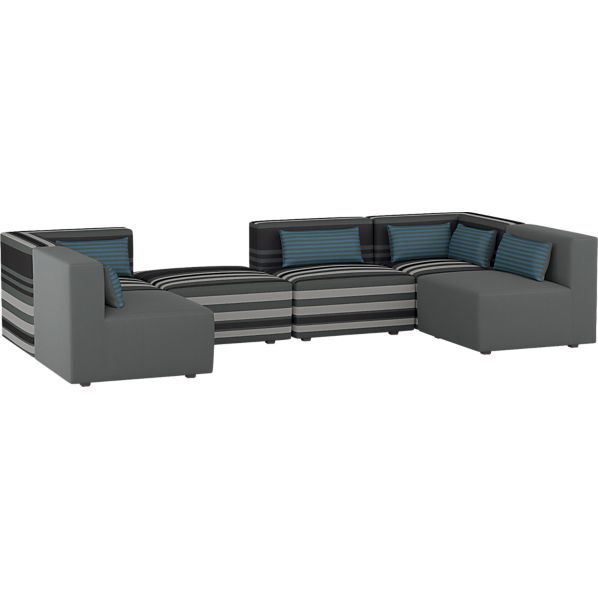 Savino 6 Piece Sectional Sofa In Sofas Crate And Barrel On Half Price