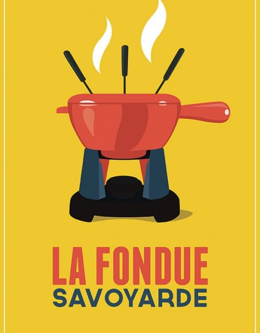 poster vintage fondue fromage resto pinterest affiches savoie et deco montagne. Black Bedroom Furniture Sets. Home Design Ideas