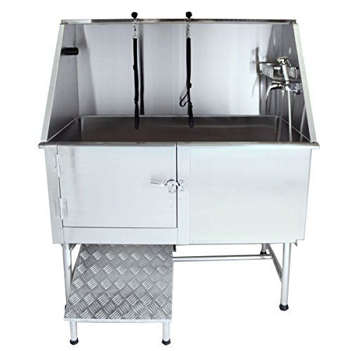 50 62 Flying Pig Grooming Professional Stainless Steel Superior Pet Dog Animal Grooming Bath Tub With Ramp Wa Dog Grooming Tubs Dog Bath Tub Pet Grooming Tub