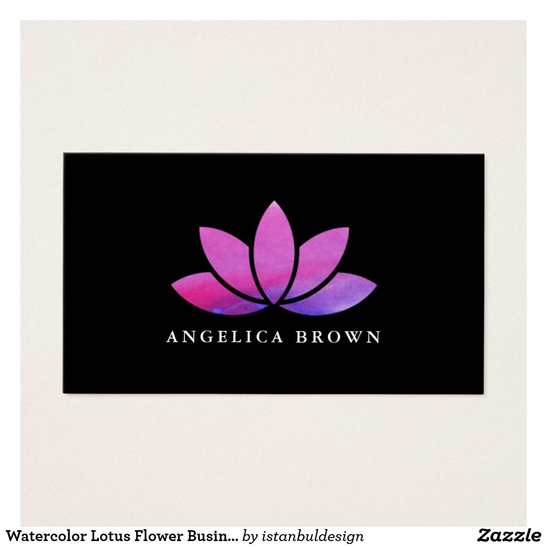 Lotus Flower Business Cards Images - Business Card Template