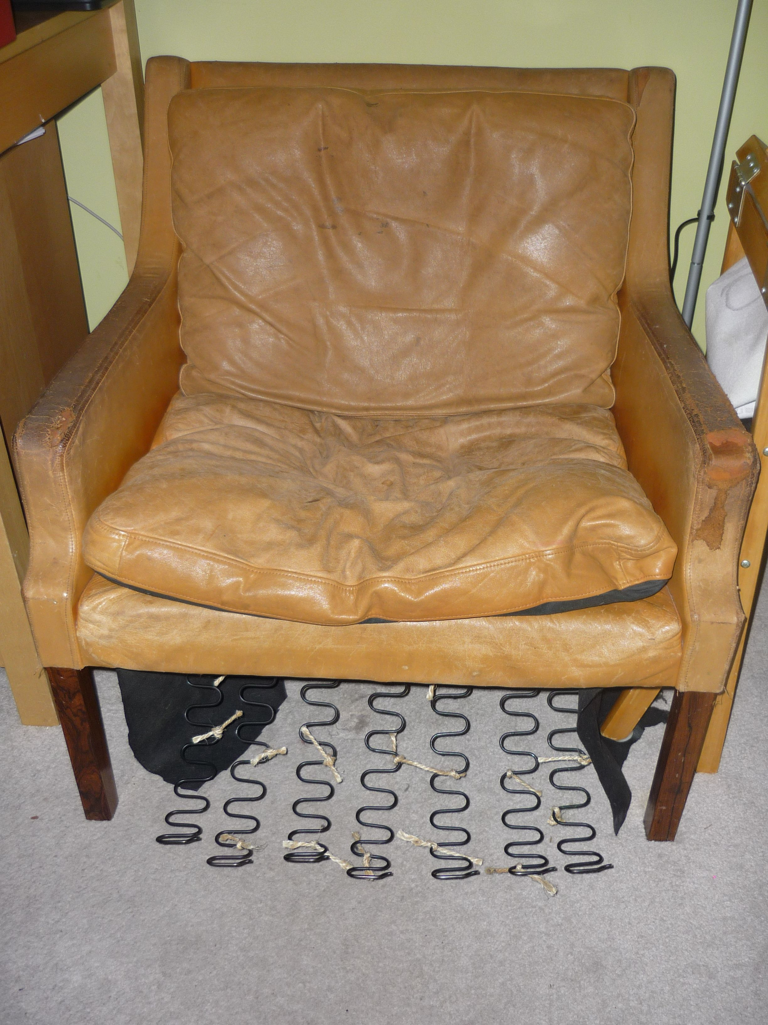 Superieur Danish Rud Thygesen Chair   Before. Couldnu0027t Save The Leather, Really Big  Holes Everywhere, Massive Cat Scratching Attacks On The Back, Reluctantly  Started ...