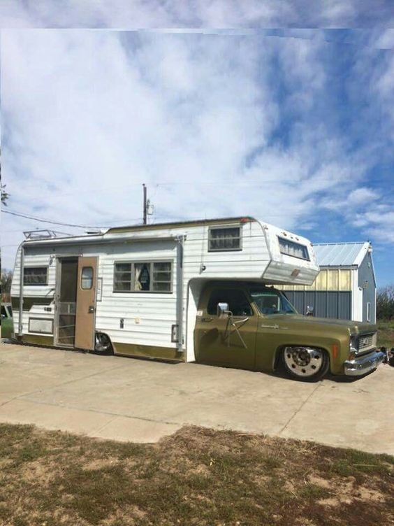 Class A Rv: 70s Class C Low Rider Custom Chevy Truck Conversion Image