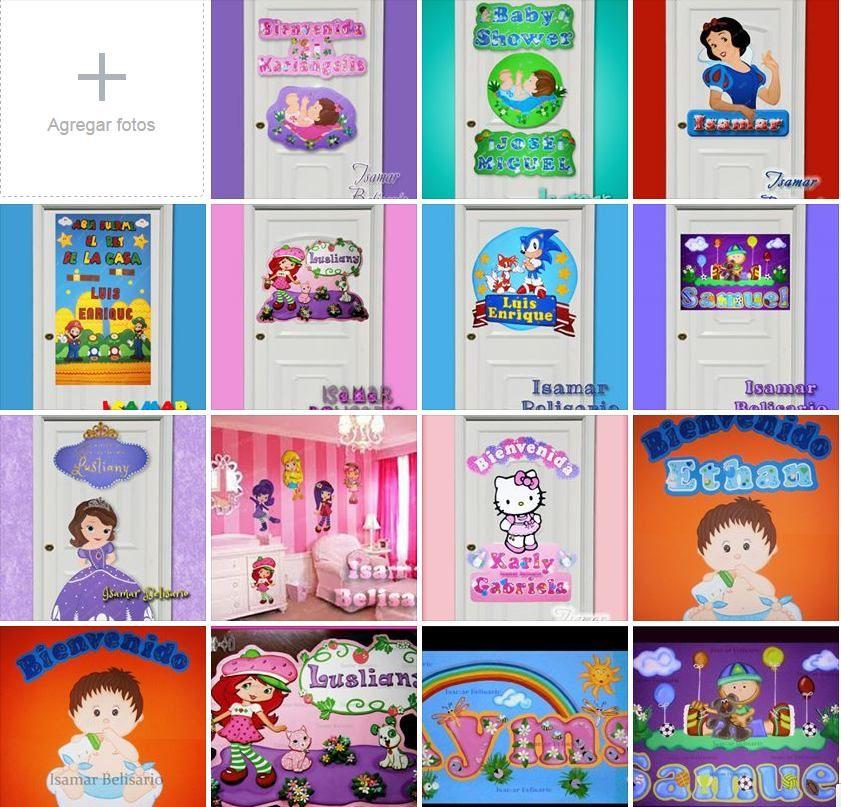 Carteles varios  de bebe-niñas - Nacimiento - baby shower- foami. bebe-accesorios-decoración niñps cuartos  Elaborado Por Isamar Belisario