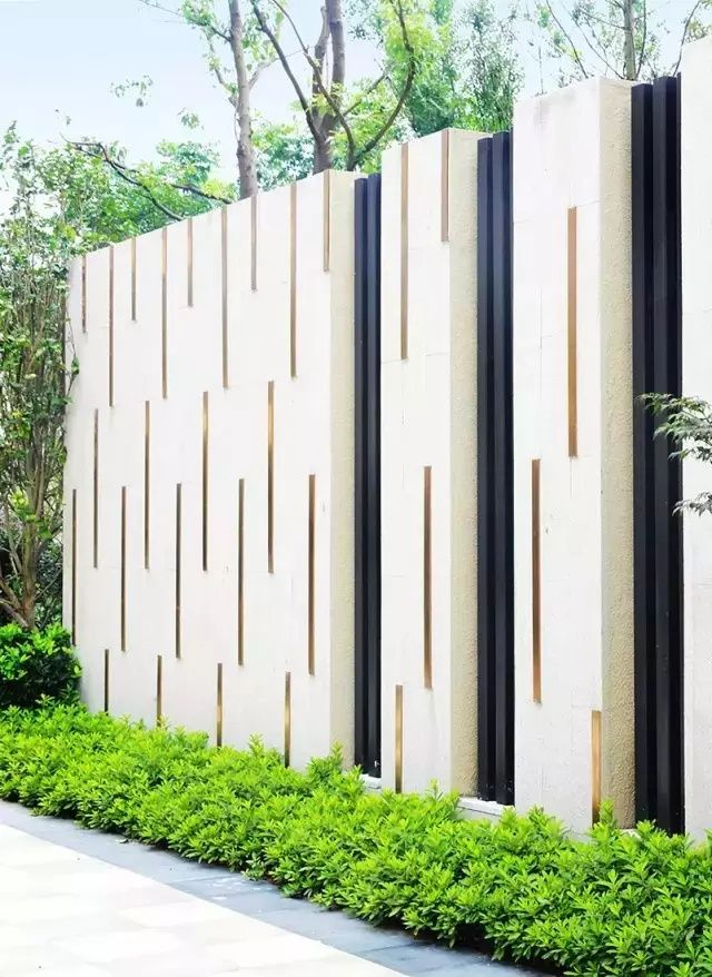 Wall design great pin for oahu architectural design for Boundary wall