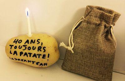 envoie ta patate d 39 anniversaire 40 ans nath pinterest anniversaires cadeau et id es cadeaux. Black Bedroom Furniture Sets. Home Design Ideas