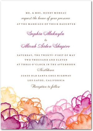 Watercolor Invitation Wedding Paper Divas Watercolor Floral Wedding Invitations Watercolor Wedding Invitations Floral Wedding Invitations
