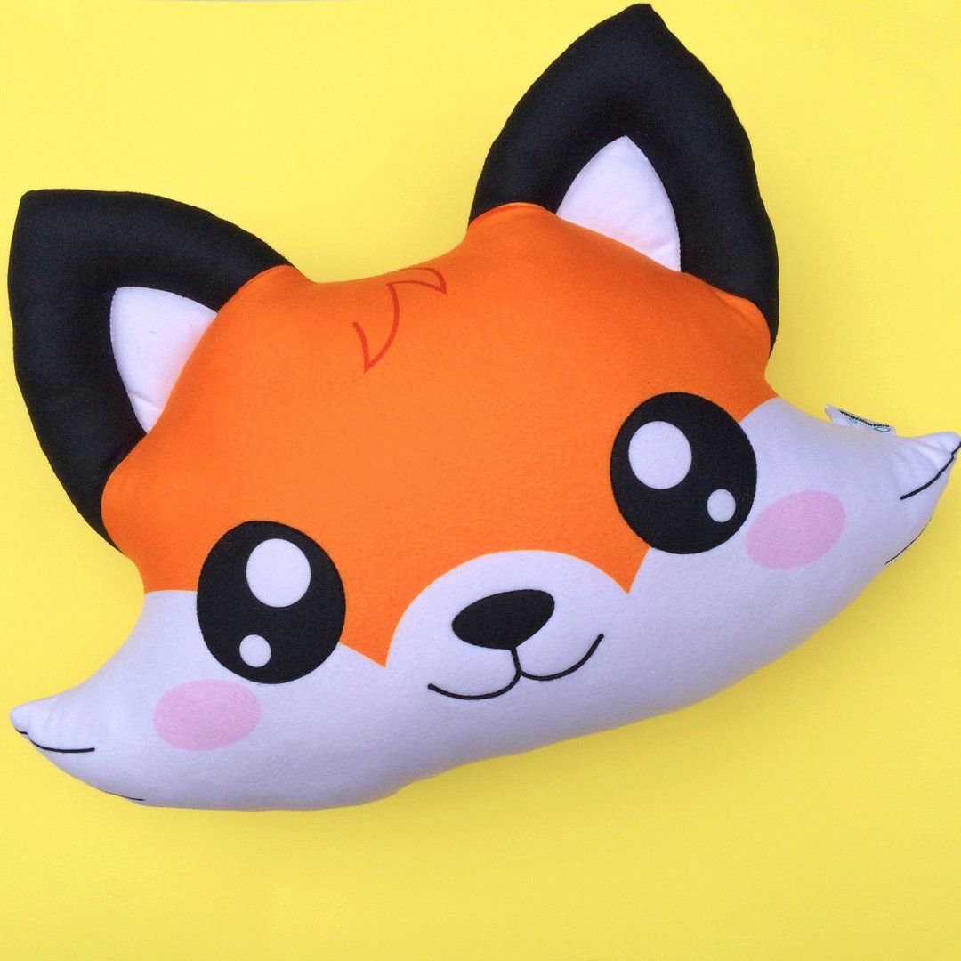 Fox Pillow, fox Cute Kawaii, toy pillow, pet pillow, Fox Kawaii, Cute fox