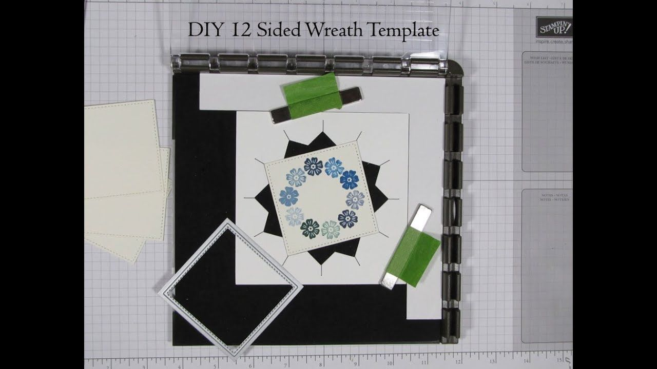 DIY 12 Sided Wreath Template For Stamp Positioning Tool