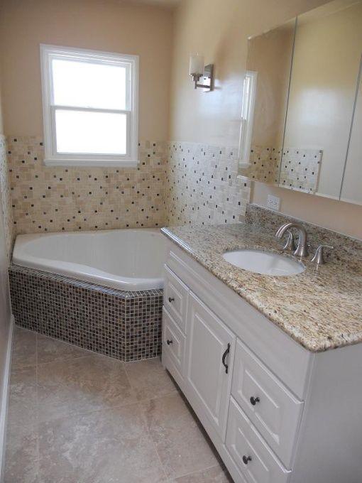 Corner Tub Under Window Diy Small Narrow Bathroom