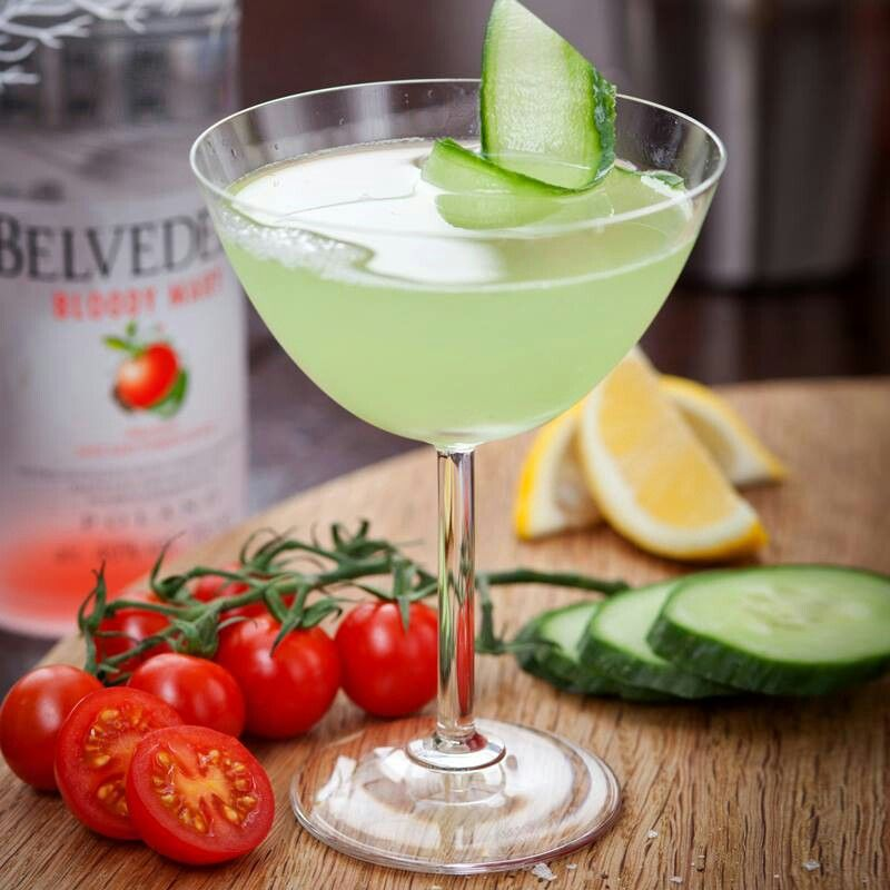 Belevdere | Mixed drinks recipes. Cucumber cocktail. Drinks