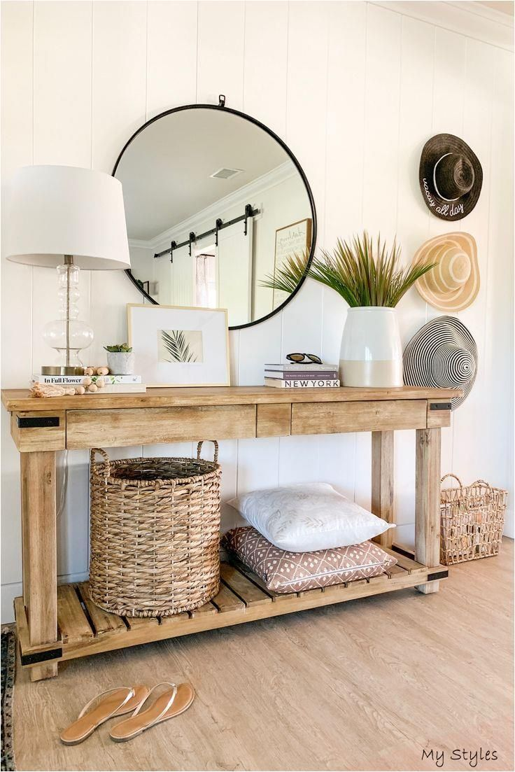 Warm Wood Console Table for Your Entry