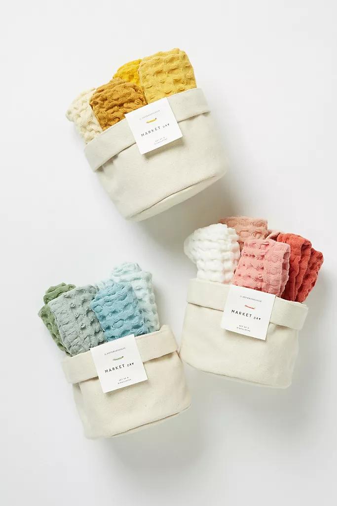 Market Dishcloths, Set of 4 in 2020 Dish cloths, Cotton