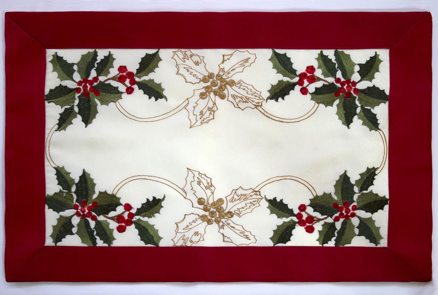 Holiday embroidered cloth placemat products pinterest placemat