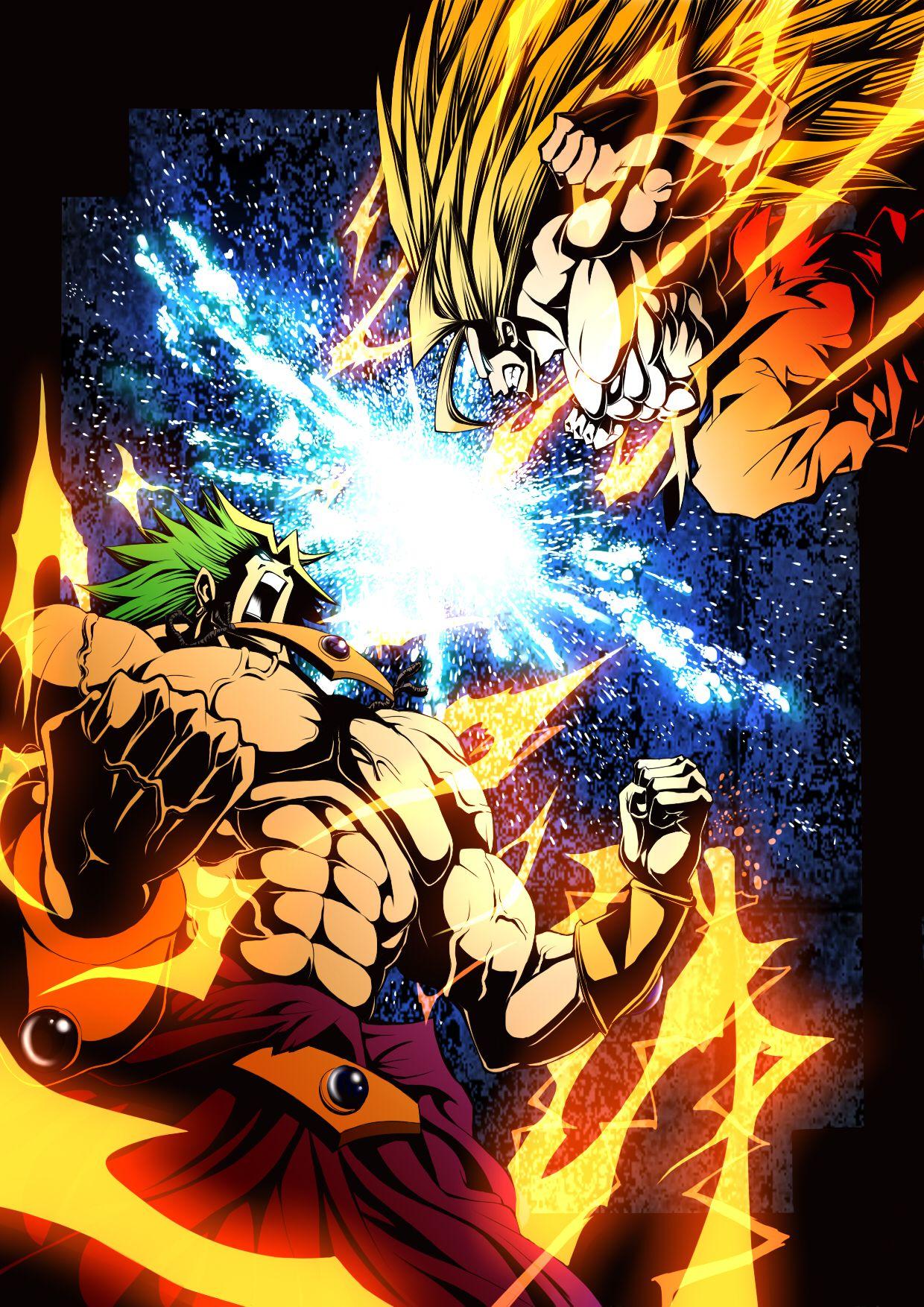 Goku vs. Broly Dragon ball art, Dragon ball super, Goku