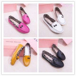 c1940ede0309 👞👞Women PU Leather Leopard Casual Slip On Dolly Ballet Flat Heel Loafer  Shoes | Shopee Malaysia
