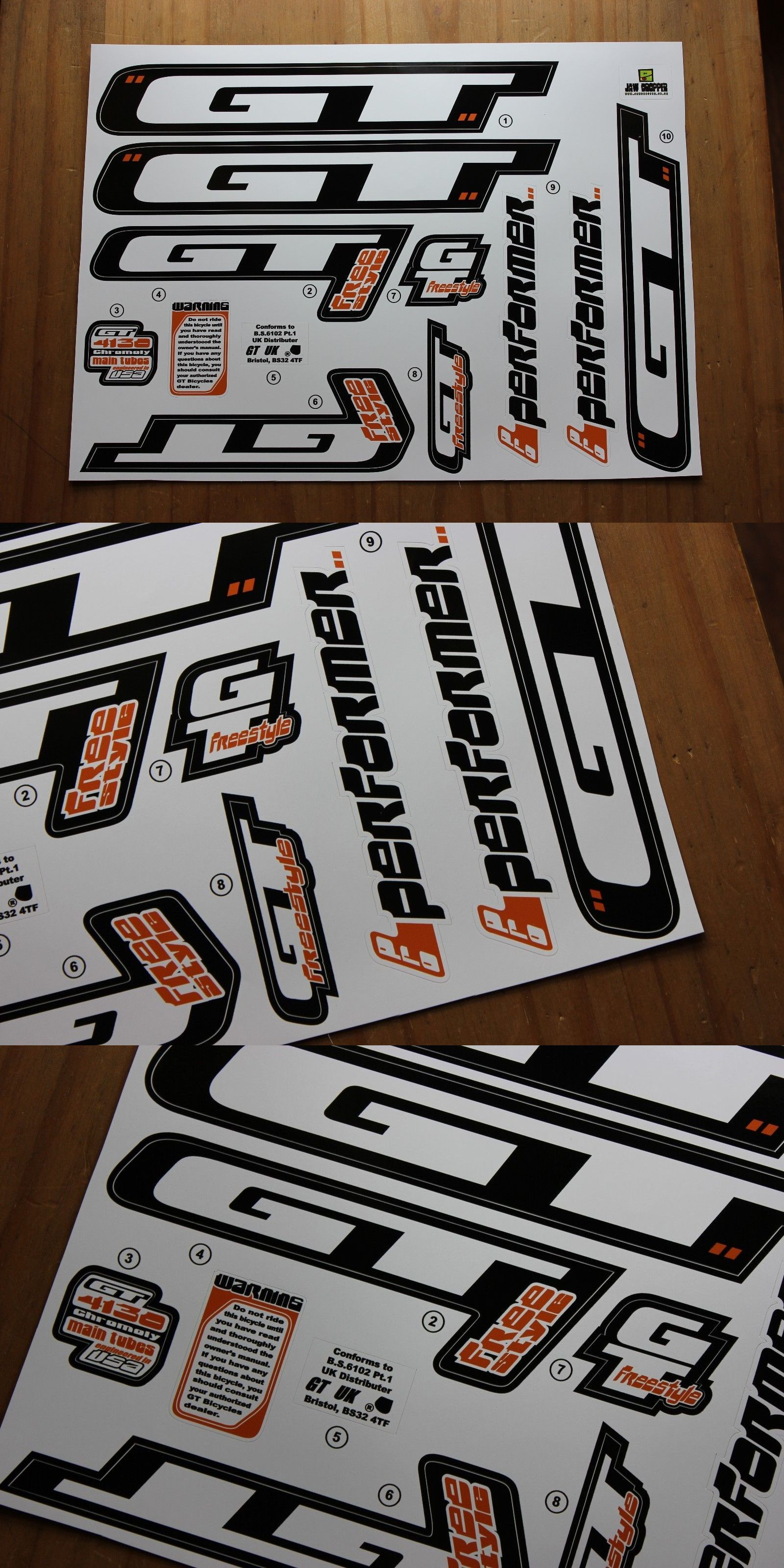 Gt Bikes Decals Set
