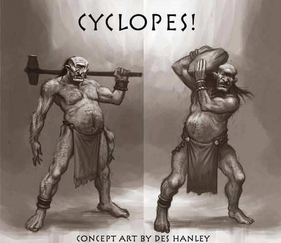 Cyclops by Des Hanley for WarGods of Olympus
