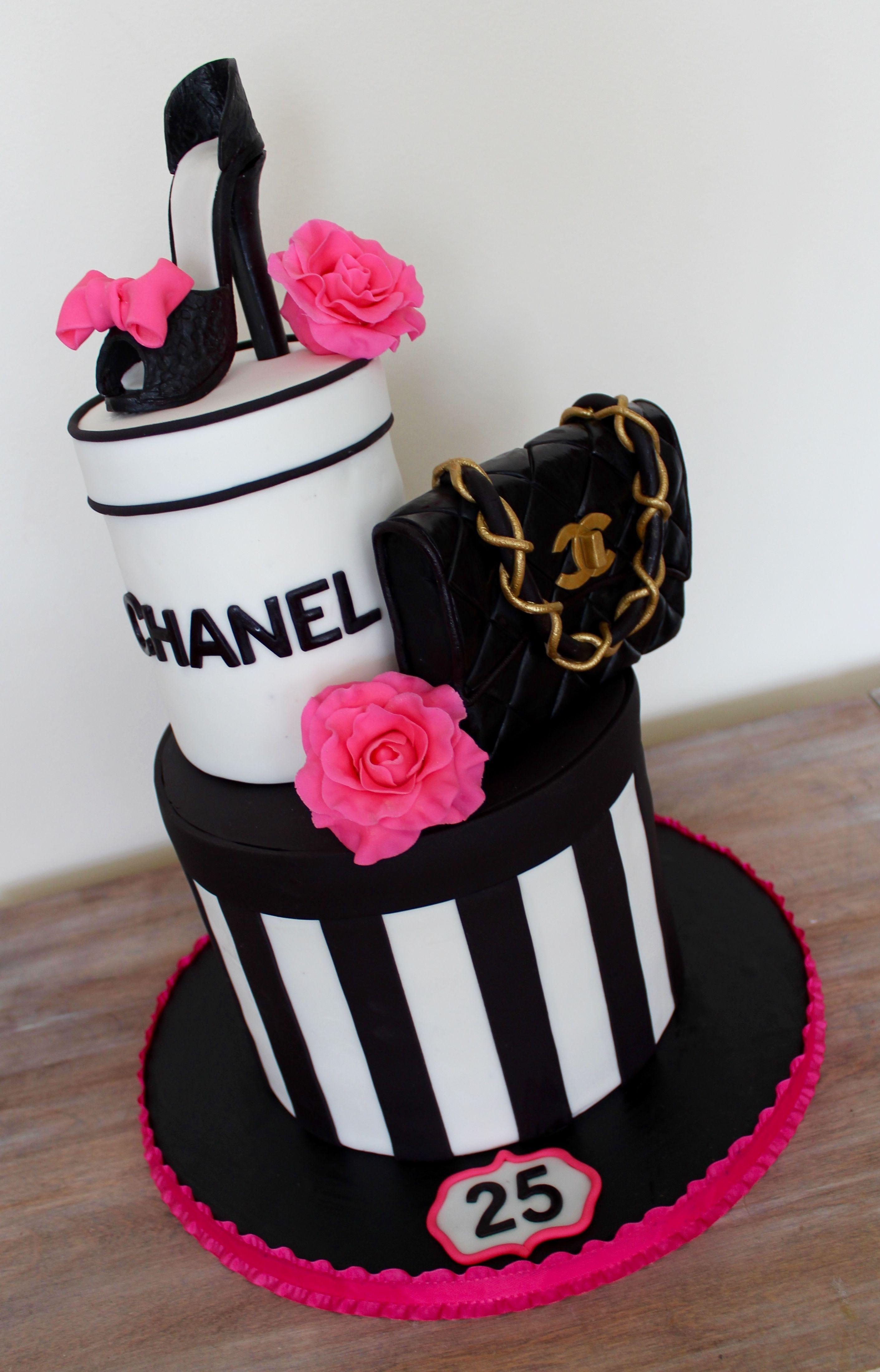 Chanel birthday cake with high heel 30ec284c4ac8e