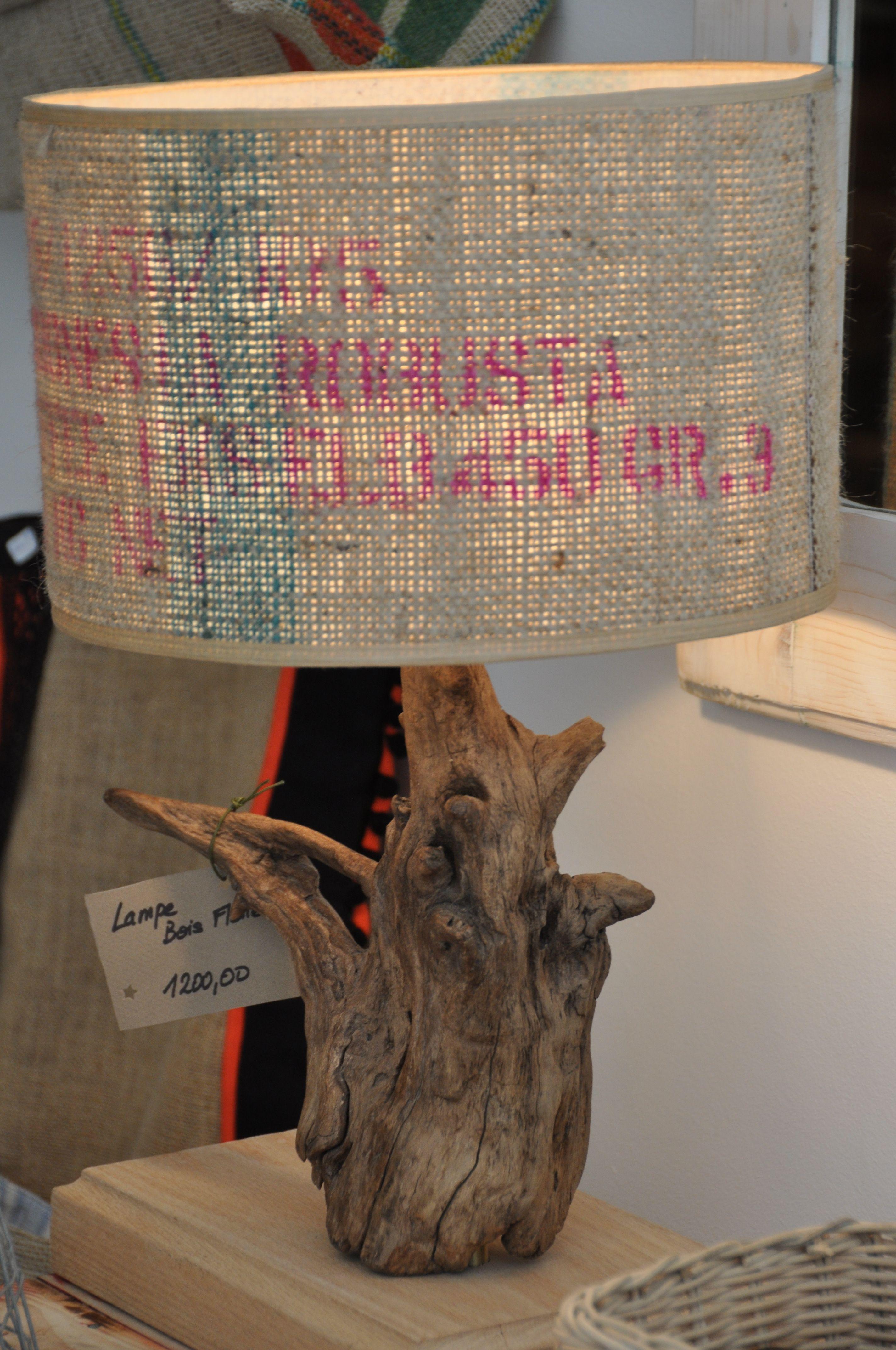Lampe bois flotte jut l 39 atelier vintage boutique de decoration - Chaise bois flotte ...