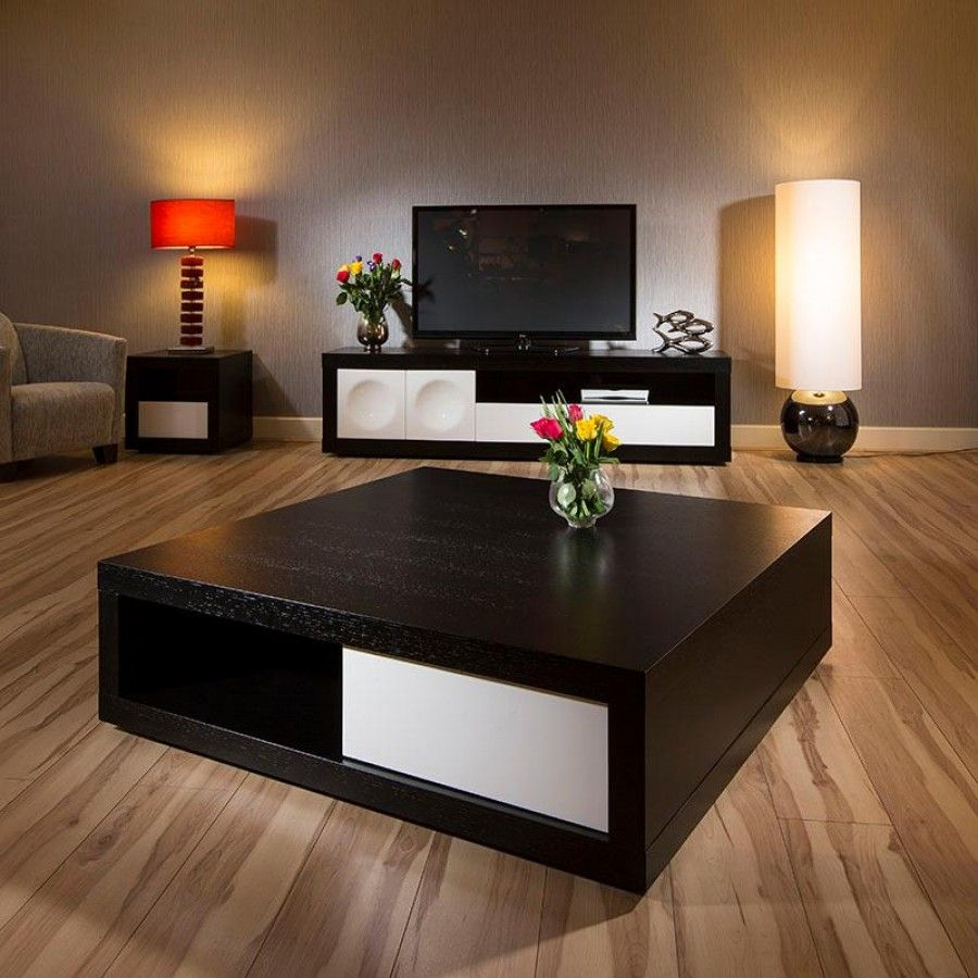 Table: Black Coffee Table Gloss Black Glass Coffee Table Fantastic  Furniture Black Round Coffee Table - Large Square Coffee Table Walnut With Black Glass Home Decor