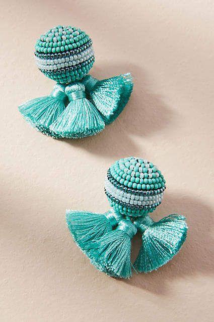Mignonne Gavigan Sloane Stud Earrings w/ Tassels nYyFPiW