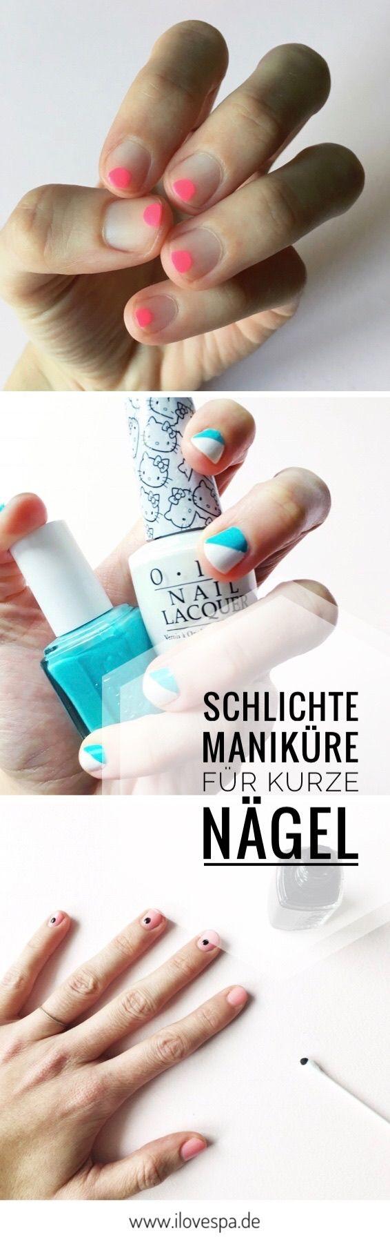 Schlichte Maniküre für kurze Nägel - die schönsten Minimal Manicure ...