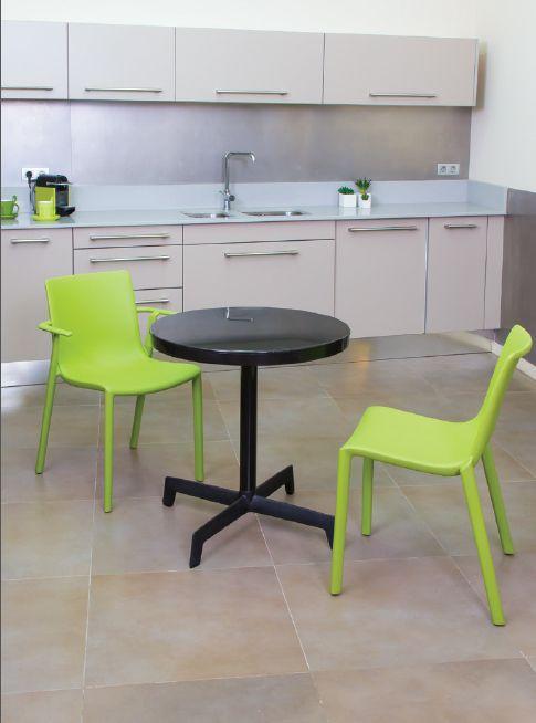 Mesa exterior interior redonda cocina comedor exterior | Mesas ...