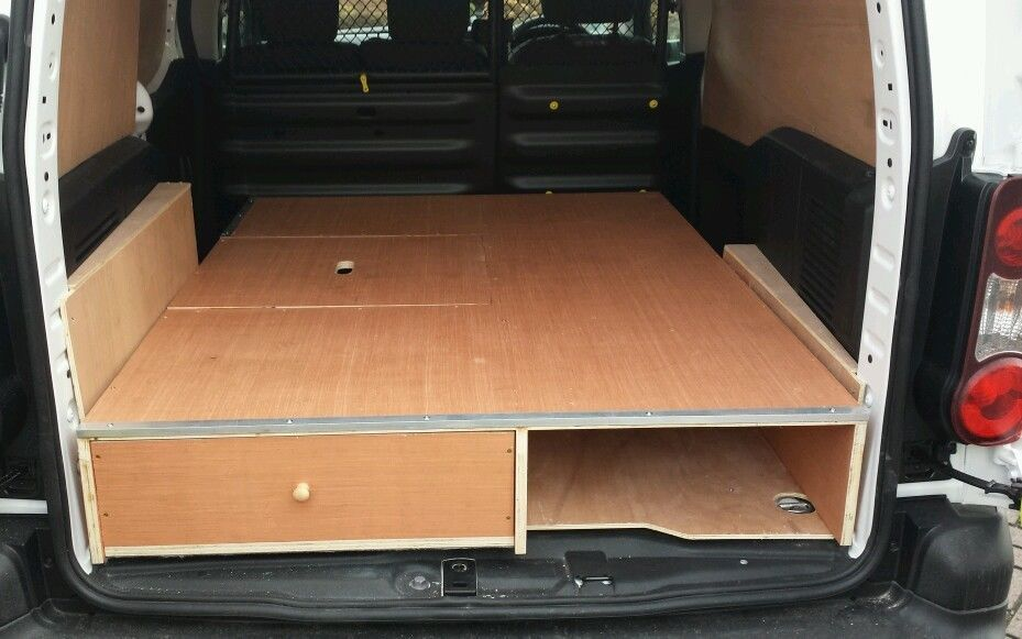 Berlingo Partner 18mm False Floor With Drawers Van Racking Van Shelving Van Conversion Kits