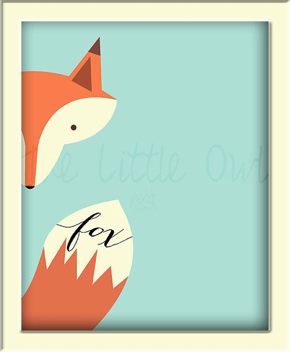 INSTANT DOWNLOAD What Does the Fox Say 8x10 Printable Wall Art Nursery Baby Boy Room Decor Woodland Theme Rustic Animal Mint Poster PDF File on Etsy, $5.00