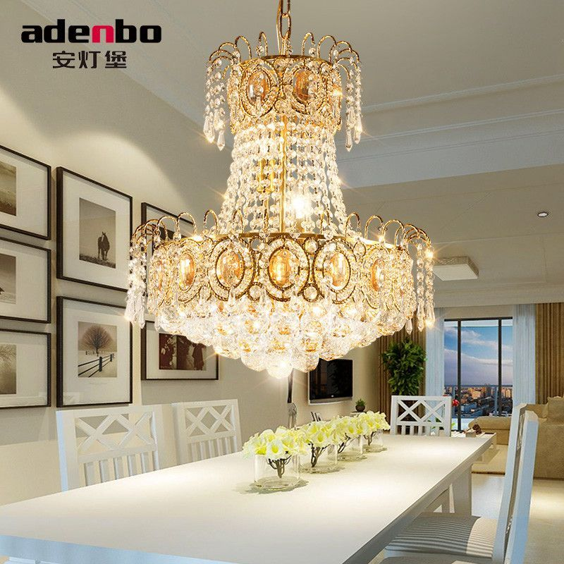 modern led chandelier gold crystal chandelier lighting for dining room ceiling hanging lamps for home decoration - Dining Room Crystal Lighting