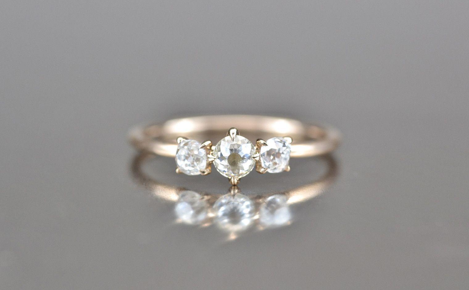2ad3afd919b677 Rose Gold Diamond Triplets Iceberg Ring-Supreme | Rhonda's Rings ...