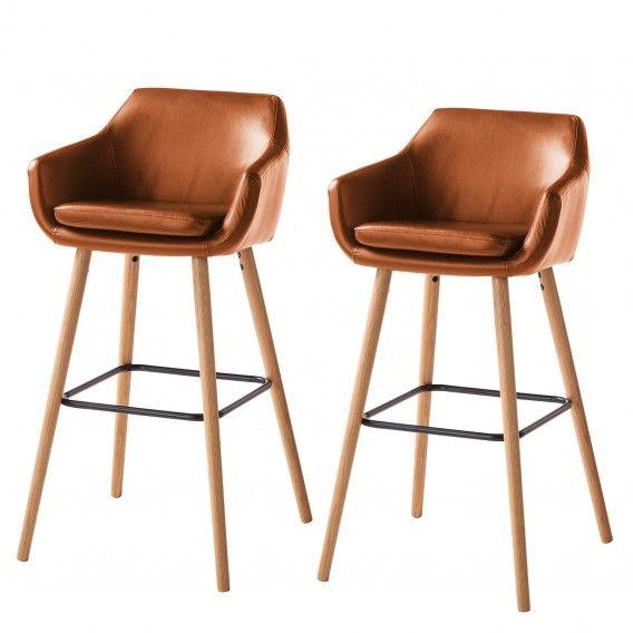 Chaises De Bar Nicholas I Lot De 2 Chaise Bar Mobilier De Salon