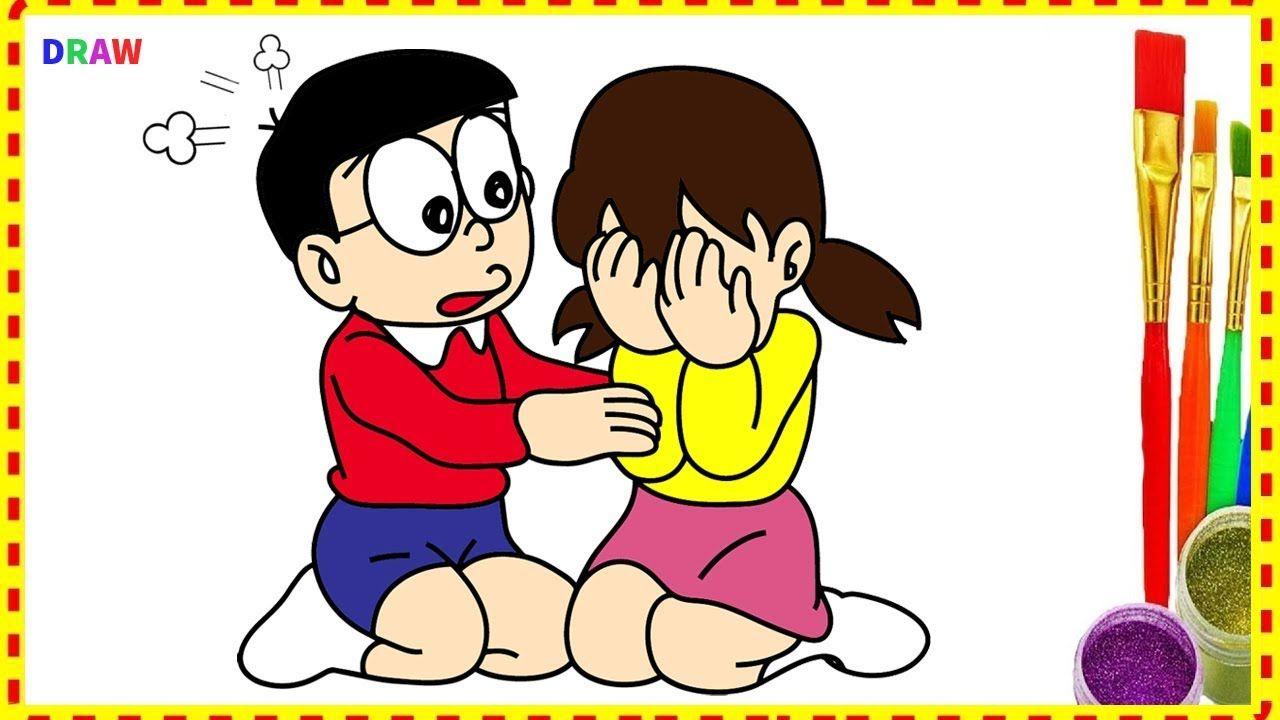 Nobita Make Shizuka Cry How Draw And Coloring Doraemon Characters