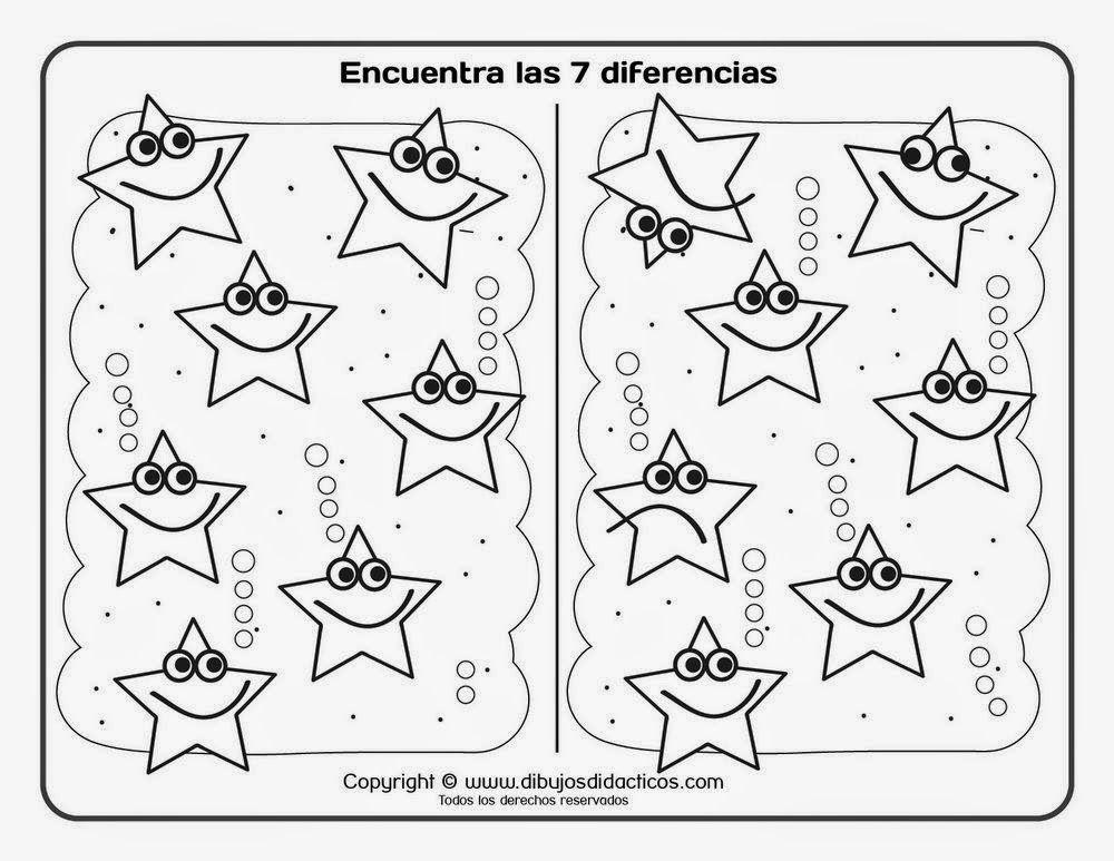 Comprueba Tu Capacidad De Atencion Y Busca Las Diferencias En Estos Dibujos Que Te Dejo Buscar Diferencias Fichas Trabaja En Silencio