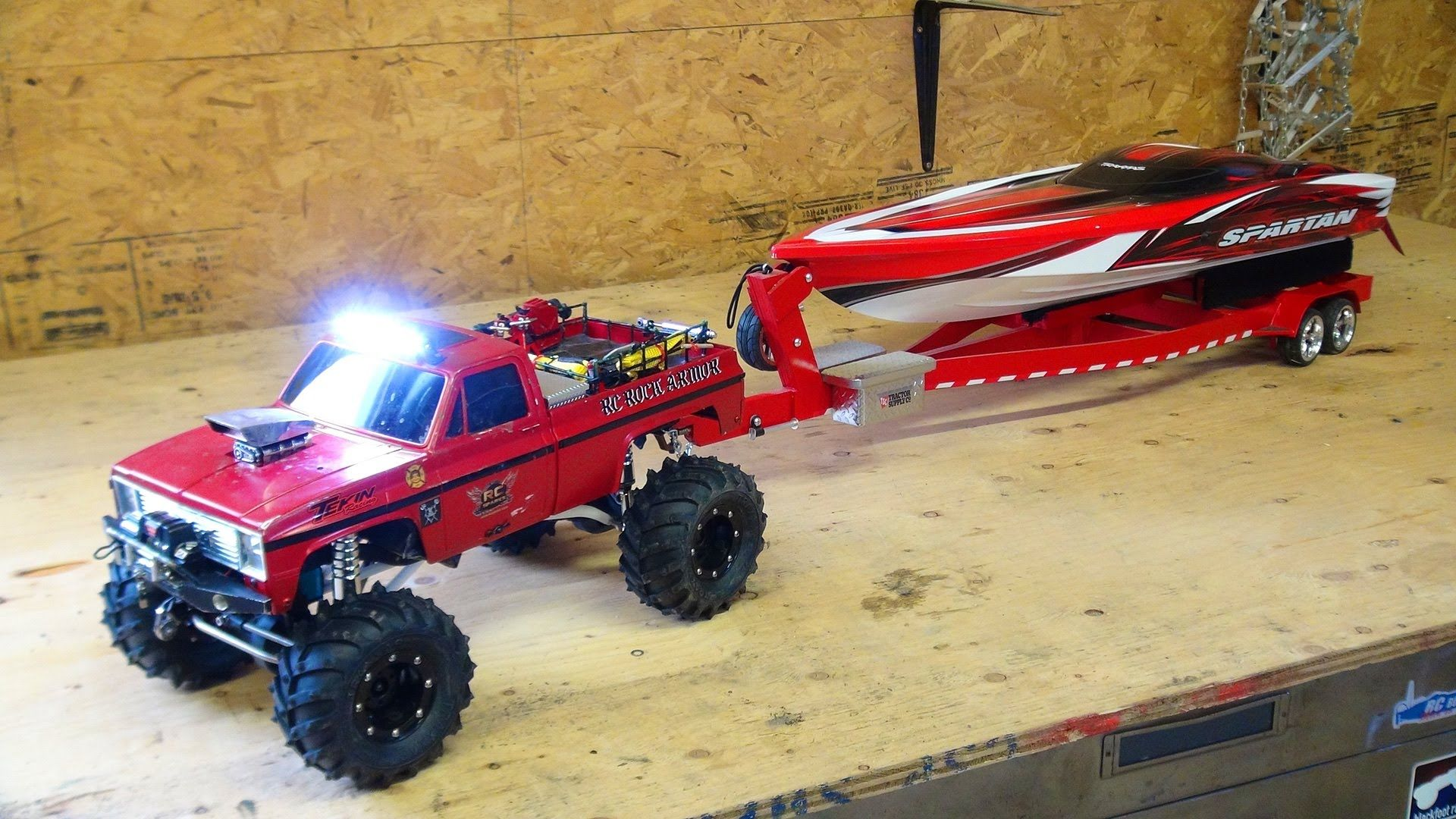 RC ADVENTURES Beast 4x4 with a Cormier Boat Trailer Traxxas Spartan