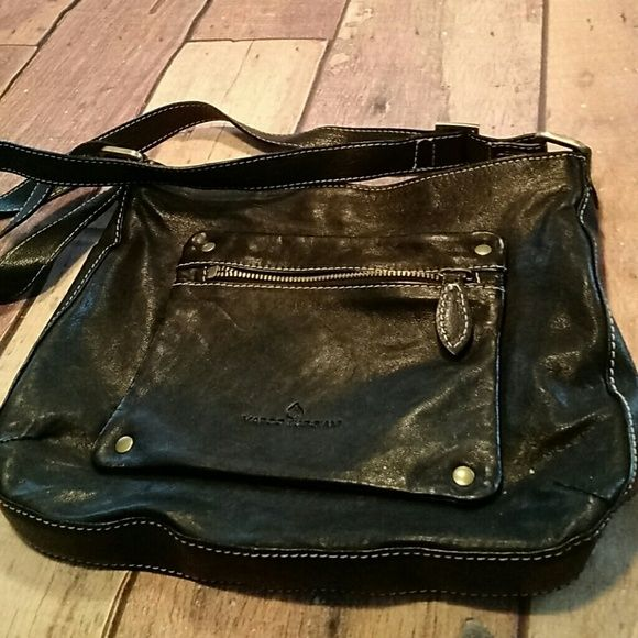 Marco Buggiani Bag Black Leather Converts To Crossbody Bags