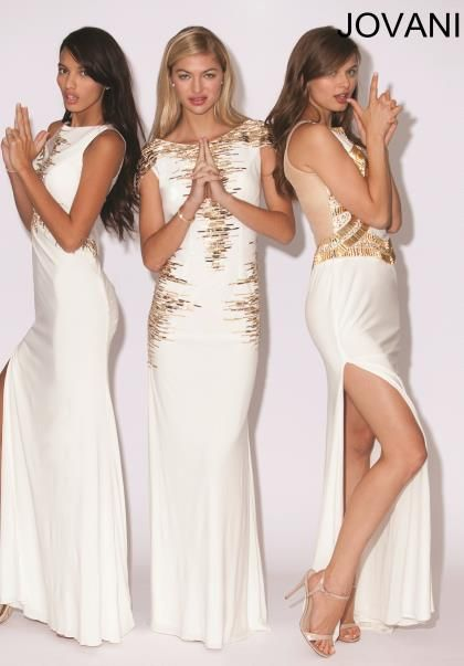 2014 Jovani Gold Beading Prom Dress 90250 | Jovani Dresses | Pinterest