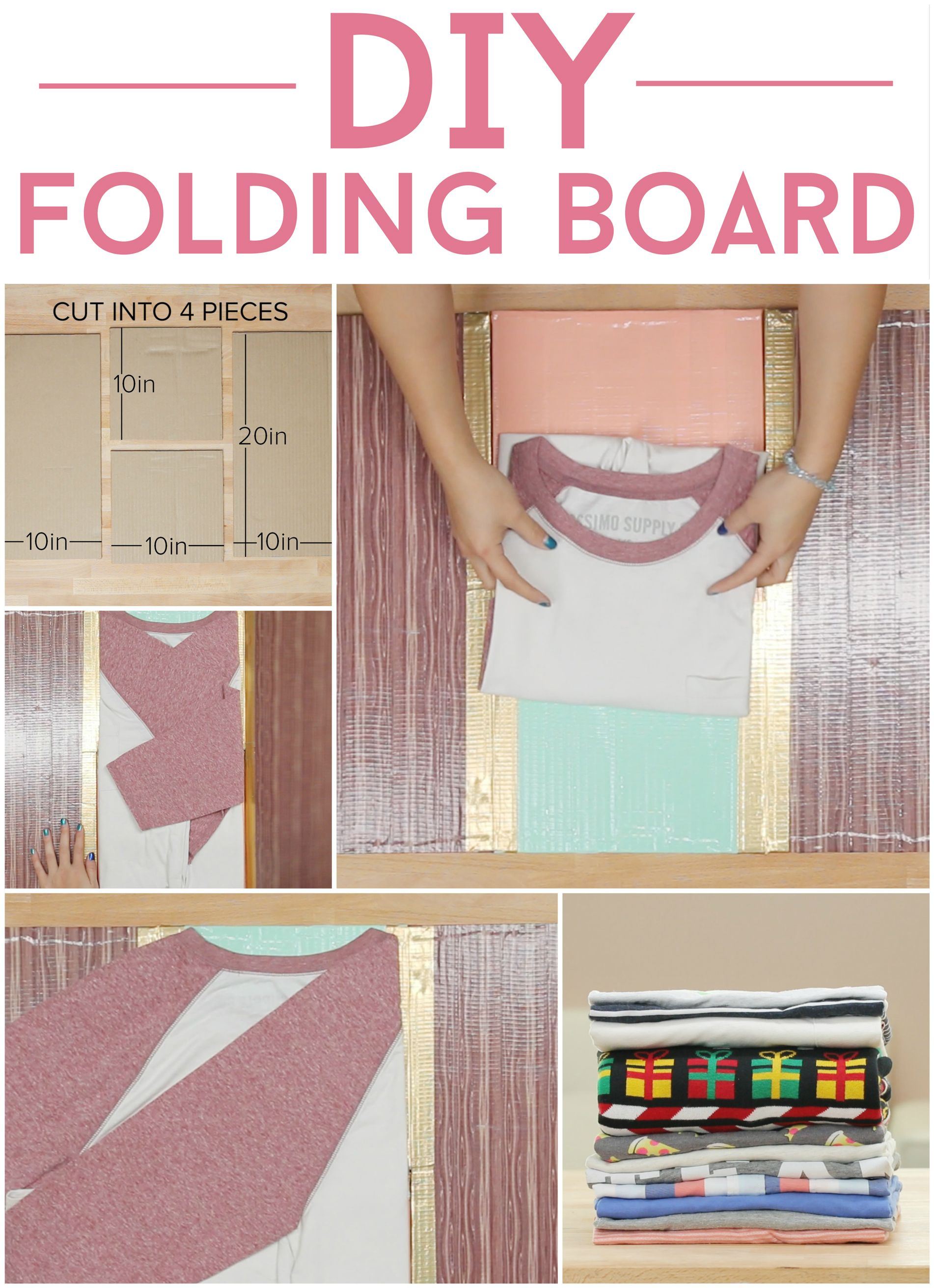 Fold Your Clothes Perfectly Every Time With The Diy Folding Board