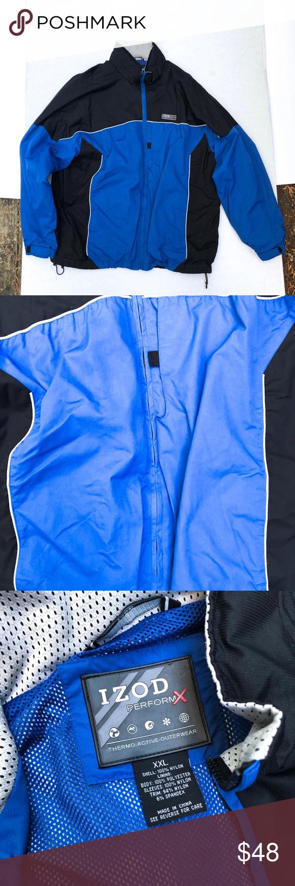 Izod Blue Performx Izod Perform X Thermo Technology Outerwear Black Blue Size Xxl Izod Jackets Coats Performance Jackets Outerwear Izod Fashion [ 1740 x 580 Pixel ]