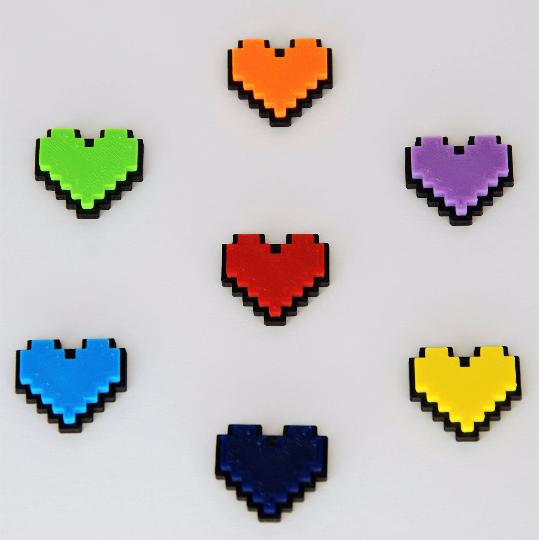 Undertale Cosplay Necklace Digital 8 Bit Pixel Heart Zelda Etsy Undertale Hearts Valentine Box Undertale Cosplay