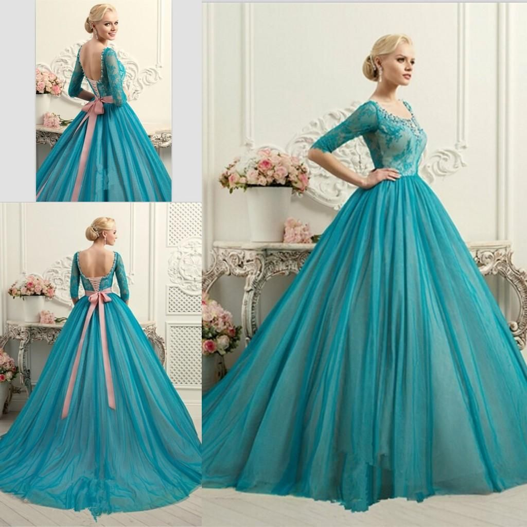 Half Sleeves Ball Gown Quinceanera Dresses 2016 New Arrival Lace ...